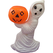 Vintage Halloween Ghost with Jack O Lantern Pumpkin by General Foam Plastics Norfolk VA. Plastic Blow Mold