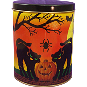 "Halloween Tin ""Black Cats"""