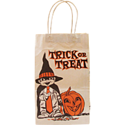 Vintage Trick or Treat Paper Bag with Handles by Duro Paper Bag Co.