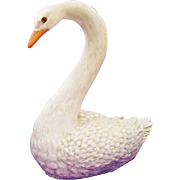 Regal 1988 Swan Statue by Homeco with Glass Eyes