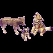 Hagen Renaker Wolf & Coyote Miniature Figurines