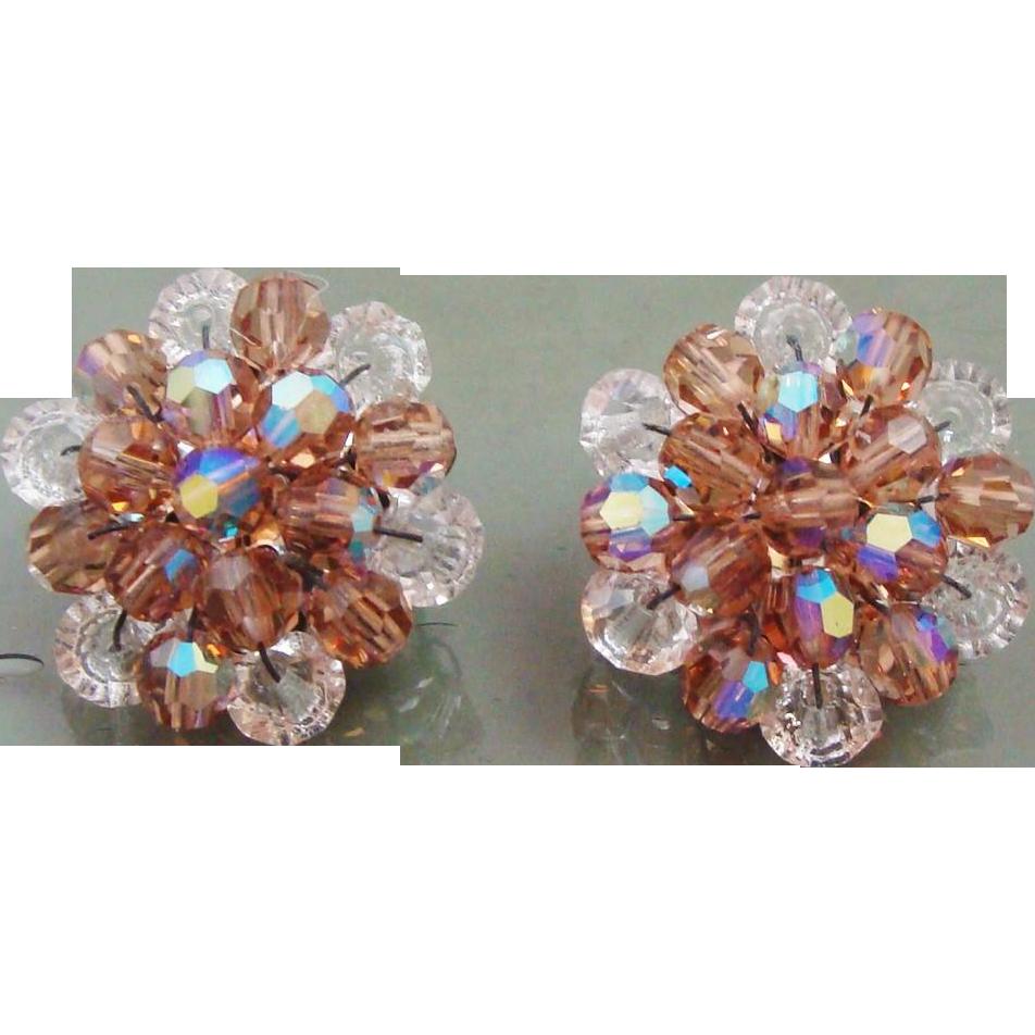 Sparkling Crystal Rhinestone Beaded Earrings