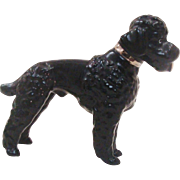 Metlzer Ortloff Germany Black Poodle Dog Figurine