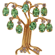 Kenneth Jay Lane K.J.L. Signed Tree of Life Pin