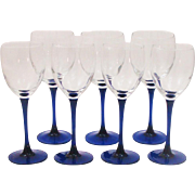 Neptune French Wine Glasses & Water Goblets by Critsal D'Arques-Durand