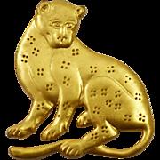 MMA ~ Metropolitan Museum of Art 24K Gold Plated Leopard Big Cat Pin