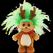 Vintage Christmas Russ Troll Doll Dressed as a Reindeer