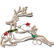 Stunning Signed Holiday Christmas Flying Reindeer with Stars ** Free Shipping within the U.S.A.