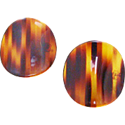 New Old Stock Faux Tortoise Shell Lucite Soft Domed Discs
