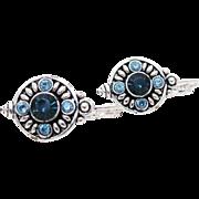 Sparkling Edgar Berebi Rhinestone Leverback Earrings