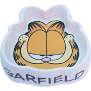 Whimsical Garfield the Cat Pet Food ~ Water Dish Bowl