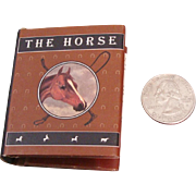 "Highly Sought After and Rare Tiny Miniature Book ""The Horse"" written by Joanne Bollenbacher"