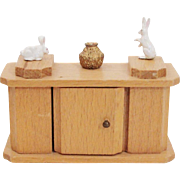 Blonde Solid Wood Side Board ~ Dry Sink ~ Hutch