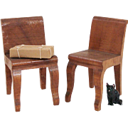 50% OFF Hand Carved Solid Wood Dollhouse Chairs