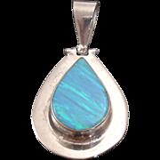 Breathtaking Tear Drop Opal Pendant Bezel Set in Sterling Silver