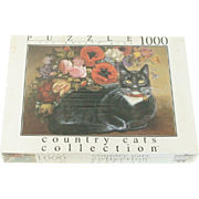 Country Cats Collection Poppy Cat 1000 Piece Puzzle Sealed by Fink & Company