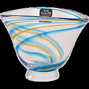 Rare Miniature Hand Blown Vas Vitreum Sweden Signed and Numbered Art Glass Vase