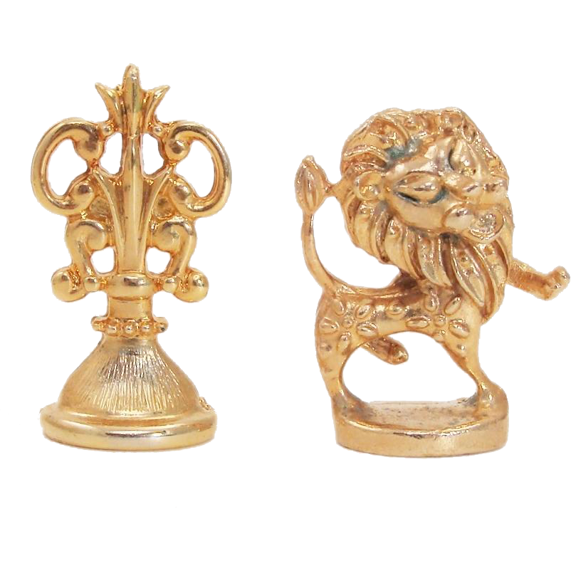 Vintage Wax Sealing Stamp Set featuring Lions