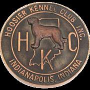 Vintage Hoosier Kennel Club Best of Breed 1969 Dog Show Medal
