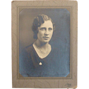 Vintage Photograph of Lady Wearing Pools of Light Necklace