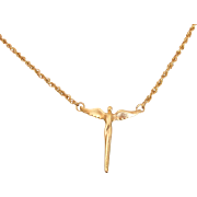 Angel of Reconciliation by Steven Lavaggi Gold Plated Necklace