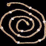 Vintage 12K Gold Filled Angel Skin Coral Bead Necklace
