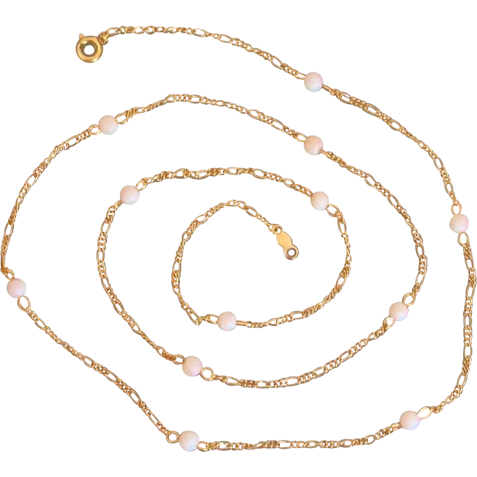 Angel Skin Coral Beads on 12K Gold Filled Necklace