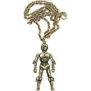 1977 Star Wars Articulated C-3PO 20th Century Fox Pendant & Chain Necklace