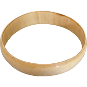 Hand Carved Natural Horn Bracelet Bangle