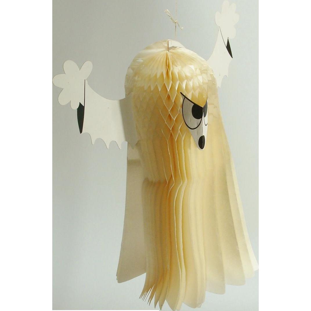 Vintage Amscan Halloween Honeycomb Hanging Ghost Made in Denmark
