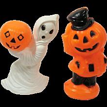 Vintage 1960's Halloween Decorations ~ Ghost ~ Pumpkin ~ Jack O Lantern