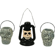 Vintage Halloween Skull Decoration Collection