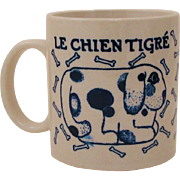 1978 Taylor & Ng French Country Kitchen Mug Le Chien ~ Le Chien Tigré Mug