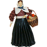 Vintage Thanksgiving Doll Colonist Decoration