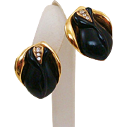 Kenneth Jay Lane ~ K.J.L. for Avon Midnight Rose Earrings