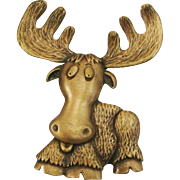 Whimsical Moose Pin by JJ ~ Jonette Jewelry Co.