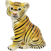Adorable 1977 Hollywood Regency Revival Ceramic Tiger Cub Life-size Statue