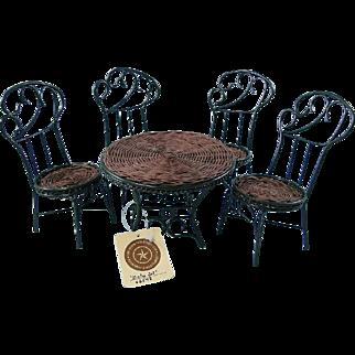 Mini Bistro Set Table Chairs Metal Rattan Boyds