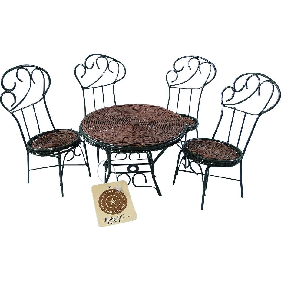 Mini Bistro Set Table Chairs Metal Rattan Boyds