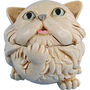 Harmony Kingdom Last Cat's Meow Box Figurine with Tour Button