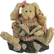 Boyds Daphne Reader Hare Bearstone Series Bunny Rabbit