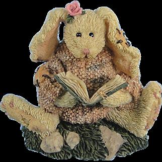 Boyds Daphne Reader Hare Bearstone Series Bunny Rabbit
