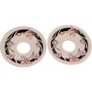 Bobeche Candle Wax Catcher Ceramic Set of Two