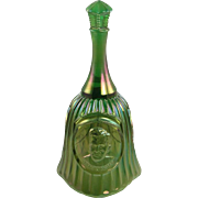 Fenton Green Opalescent Carnival Bell Vintage HOACGA