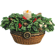 Boyds Merry's Holiday Basket Trinket Box Uncle Bean's Treasure Boxes