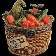 Boyds Tillie's Veggie Basket Trinket Box Uncle Bean's Treasure Boxes
