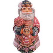 DeBrekht Santa Father Christmas with Girl Russian Folk Art