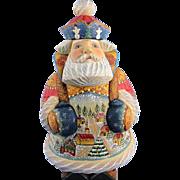 DeBrekht Santa Town Traveler Russian Folk Art
