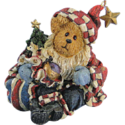Boyds Nicholas Bearyproud Christmas Bearstone Exclusive Santa