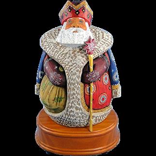 G. DeBrekht Royal Santa Musical Russian Folkart Christmas